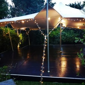 Stretch Tent Hire With Lights